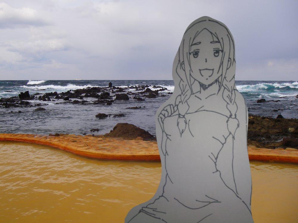今日は露天風呂の日青森のあっちこっちさ露天風呂あるはんで 巡ってみへ #ふらいんぐうぃっち #露天風呂の日  #津軽観光