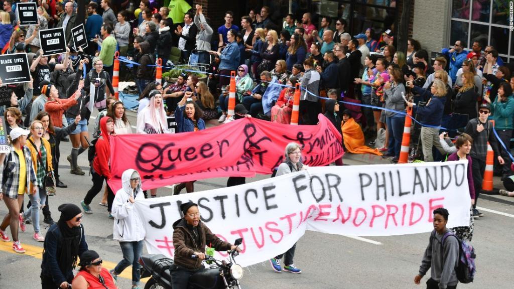 At Pride celebrations, protesters chant 'No Justice, No Pride'