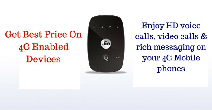 #Jio Get Best Price On #4G Enabled Devices https://t.co/oieFzAoWcq #RelianceJio https://t.co/3obDkOO49Z
