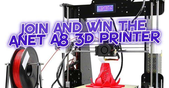 Win An Anet A8 3D Printer!