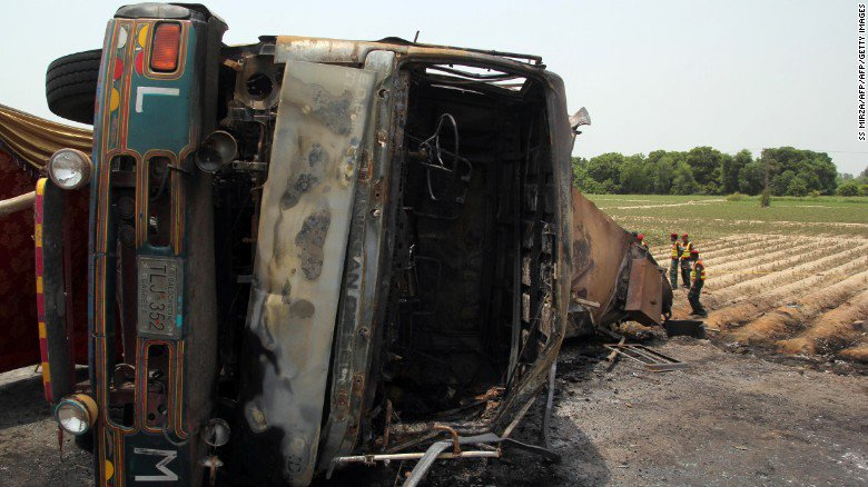 The fuel tanker truck explosion in Pakistan has left at least 153 people dead