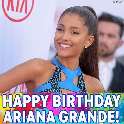 Happy Birthday to pop star Ariana Grande!
