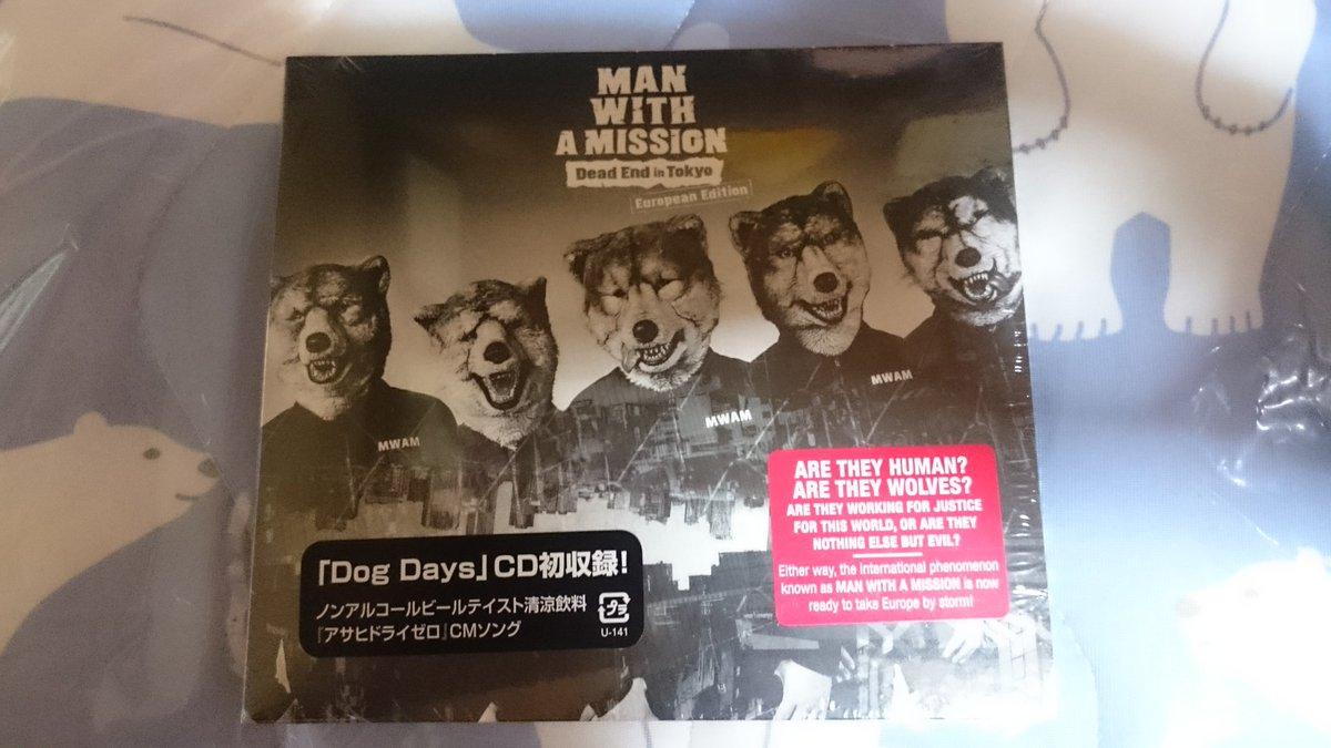 そして!!マンウィズのDEiTのEuropean Editionが届いてた✨やっぱり好きなバンドの音源はダウンロードでは