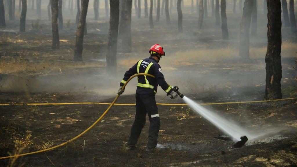 Firefighters battle national park blaze in southern Spain