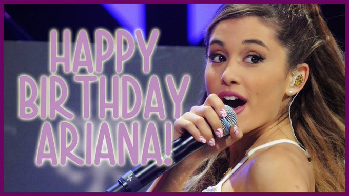 Happy 24th Birthday to the beautiful, talented and inspiring queen Ariana Grande.