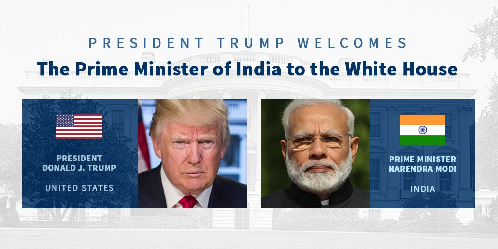 RT @WhiteHouse: Today @POTUS will welcome the Prime Minister of India, @narendramodi, to the White House. https://t.co/MIi1ifmdAN