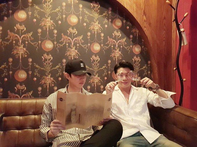 170624 Kim Heechul IG Update with Gunhee: Happy Birthday GUNHEE