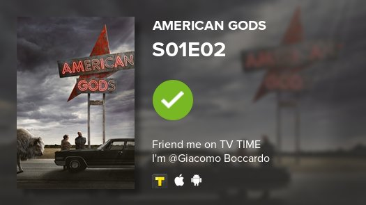 test Twitter Media - I've just watched episode S01E02 of American Gods! #americangods  https://t.co/Tl4zZ9BGo2 https://t.co/4LufZbRyxR
