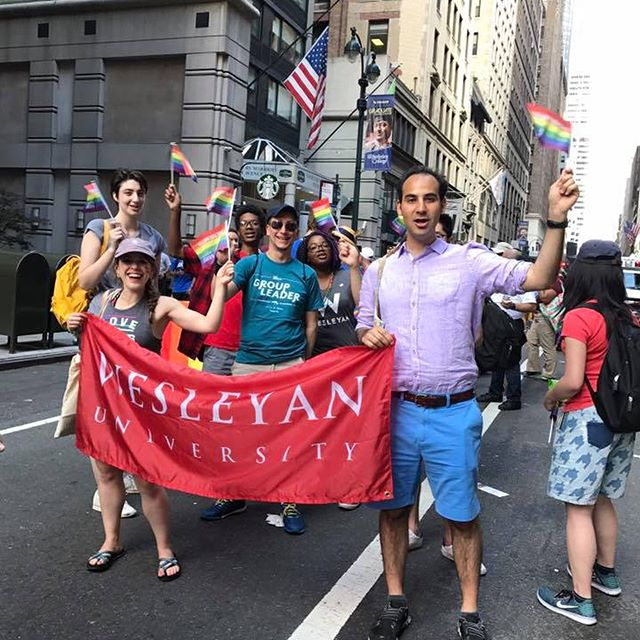 test Twitter Media - Wesleyan alumni, family + friends banded together yesterday during the 48th annual @NYCPride March. #WesleyanPride #WeAreProud #LoveIsLove https://t.co/Kof3IDJYB9