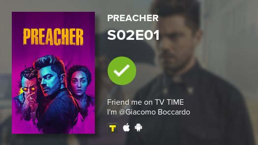 test Twitter Media - I've just watched episode S02E01 of Preacher! #preacher  https://t.co/dPsqjmUARJ https://t.co/qQNud2HL8p