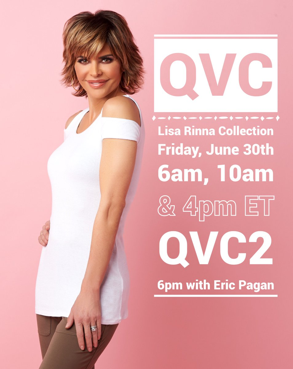 This Friday @QVC!! ???? ???? ???? #LisaRinnaCollection https://t.co/sUbzUbJ1kR