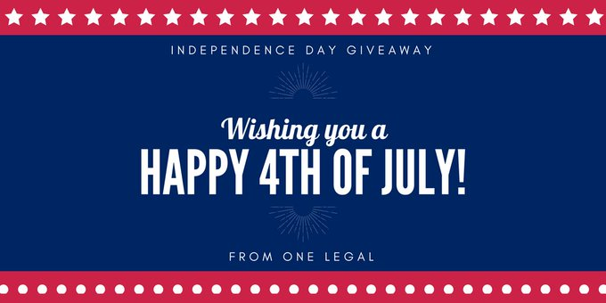Independence Day Giveaway with One Legal