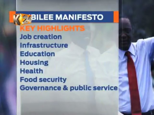 Jubilee party to launch its manifesto at Kasarani stadium at 7pm
