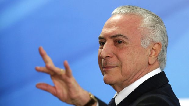 Brazil President Michel Temer charged with corruption as Antonio Palocci jailed