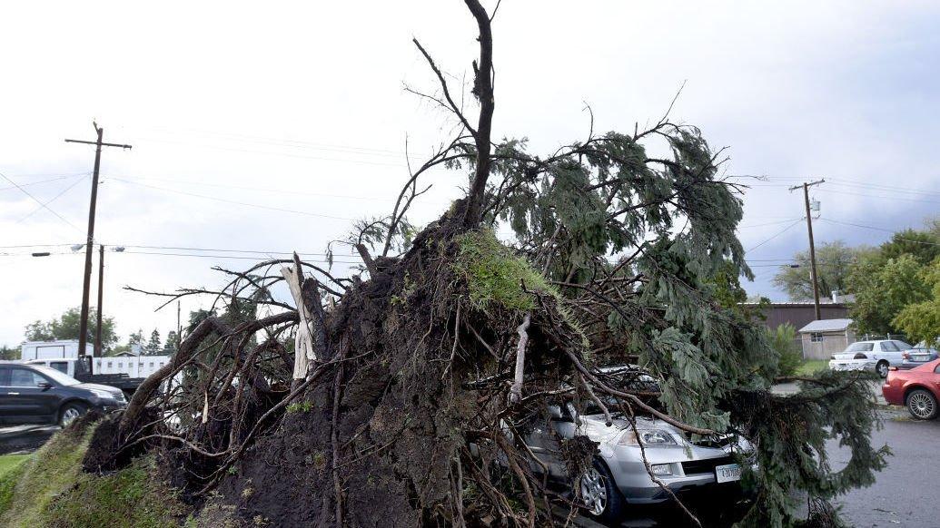 Thunderstorms menace western Montana on Monday evening