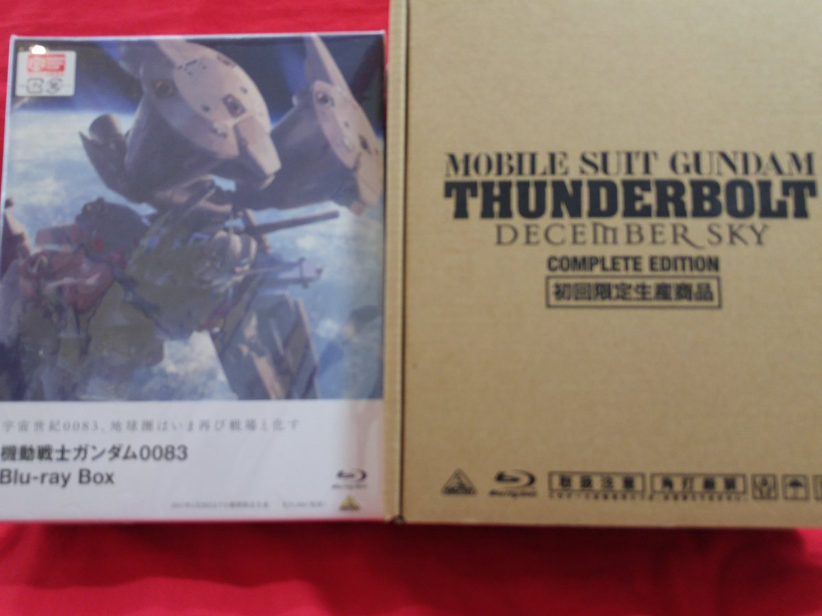 ガンダムシリーズ Blu-ray入荷★0083 Blu-ray BOXとサンダーボルト COMPLETE EDITION