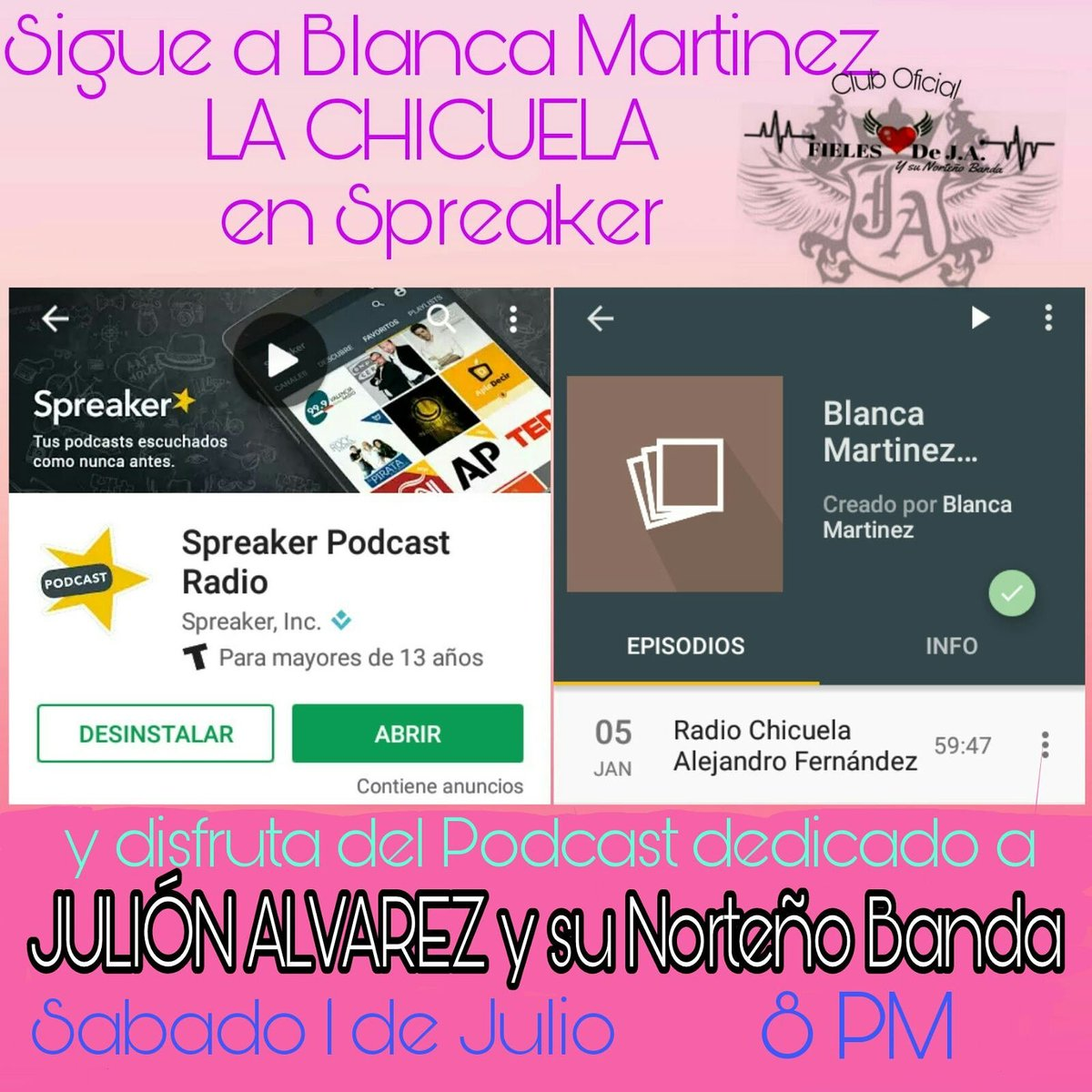 test Twitter Media - Ya sigues a @chicuela en @spreaker? Este 1 de Julio tiene un #Podcast con @julionalvarez #YSNB No te lo pierdas! 8Pm  #FielesJA invita! https://t.co/dSEnqQBYCQ