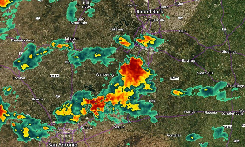 WEATHER UPDATE: Significant weather advisory issued for Travis, Hays counties; dime-sized hail possible