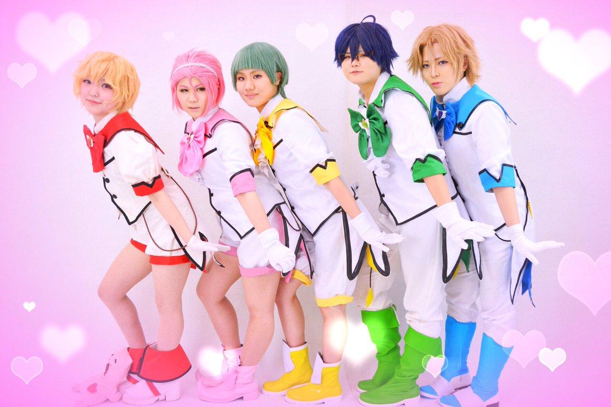 【コスプレ】美男高校地球防衛部LOVE!LOVE!バトルラヴァーズぴよぴよ〜!❤️わたし💗 💛 💚 💙 📷
