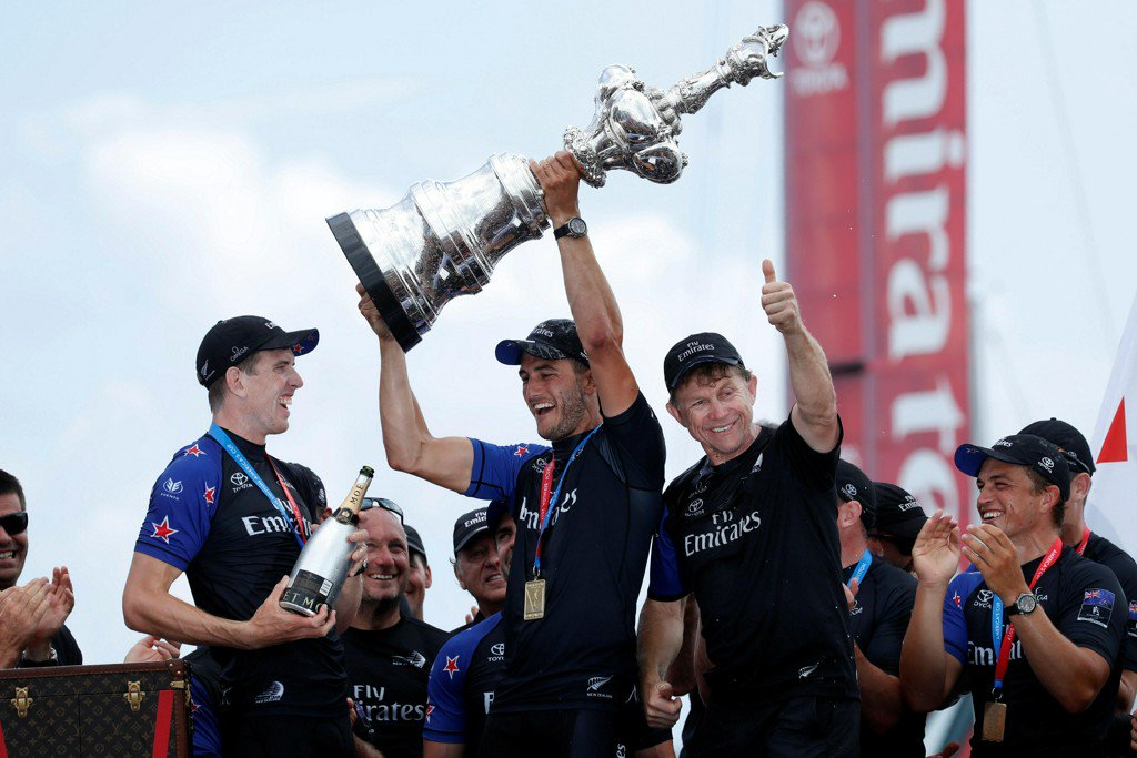 Team New Zealand beats Oracle Team USA to win 35th America's Cup