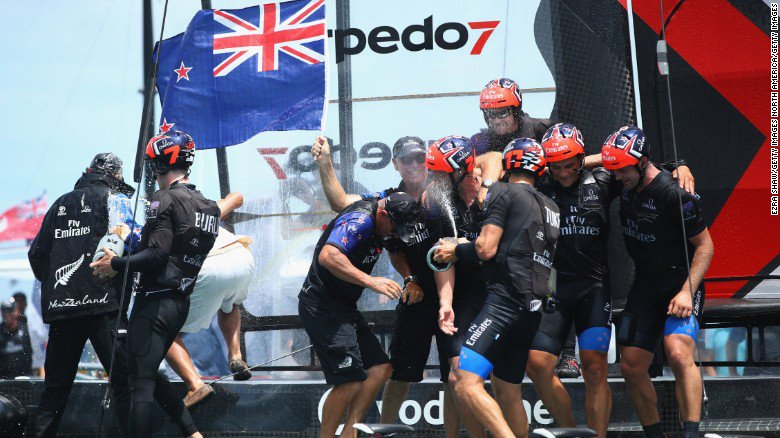 Team New Zealand trounced Oracle Team USA to regain the America's Cup
