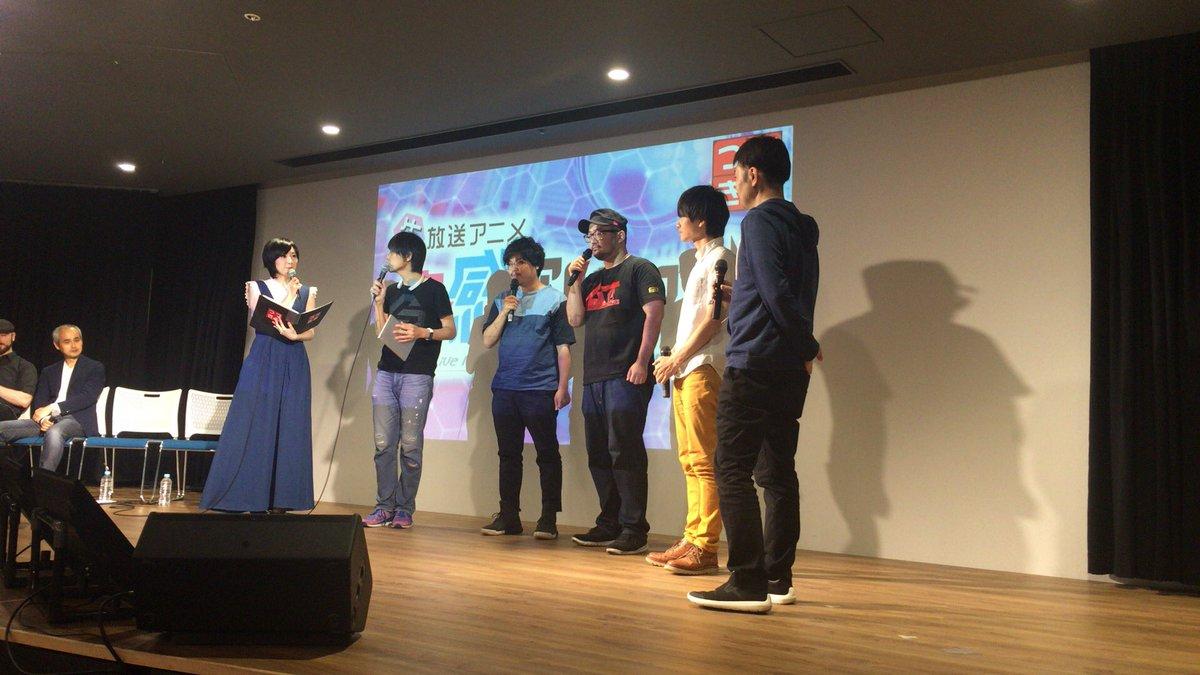 続いて直感アルゴリズム!生アニメなのでPVはなし!副島Pと吉田さんはみならいディーバでご一緒していました! #つづきみ