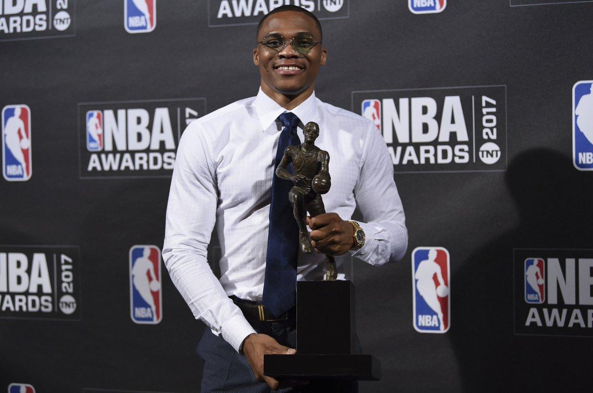 Russell Westbrook wins NBA's MVP Award