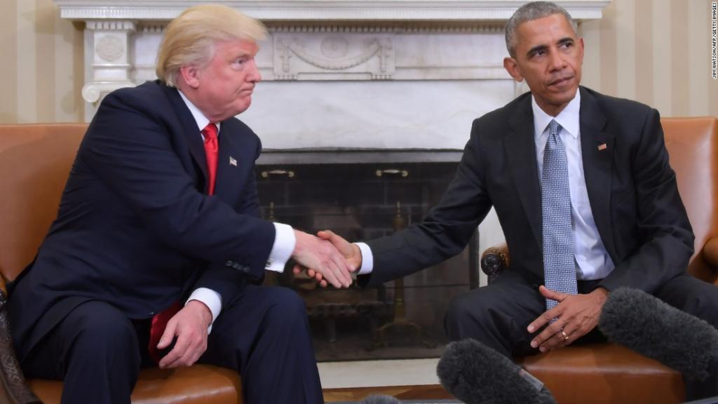 Trump's new foil: a silent Barack Obama