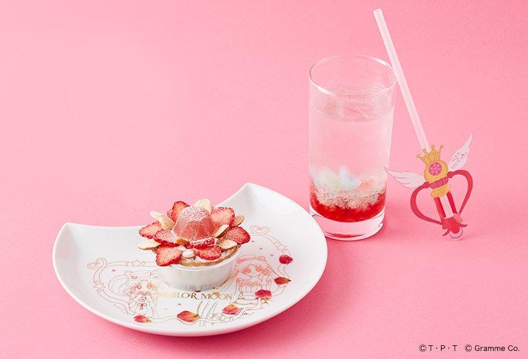 【Q-pot CAFE.×セーラームーン】☆まぼろしの銀水晶タルト☆美しく咲いた花のような幻の銀水晶をストロベリーチーズ