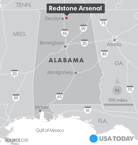 """""""Run, hide fight"""": Possible shooter at Redstone Arsenal in Alabama."""