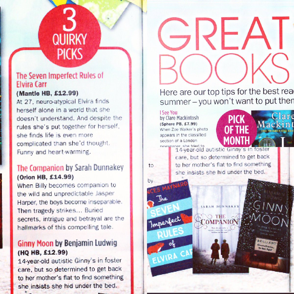 test Twitter Media - RT @Charlo_Murs: Brilliant to see #GinnyMoon by @BILudwig featured in @My_Weekly! @HQstories https://t.co/Ru2hhaOyFV