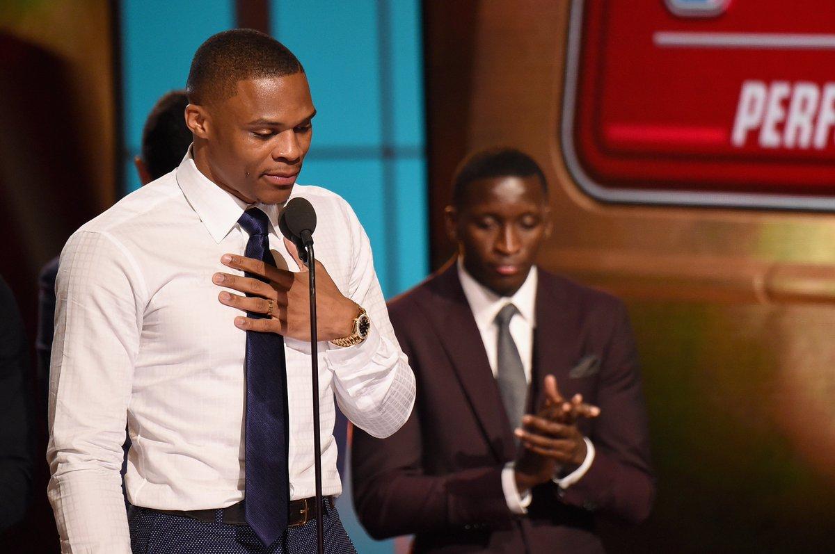 Russell Westbrook gives emotional speech after winning MVPaward