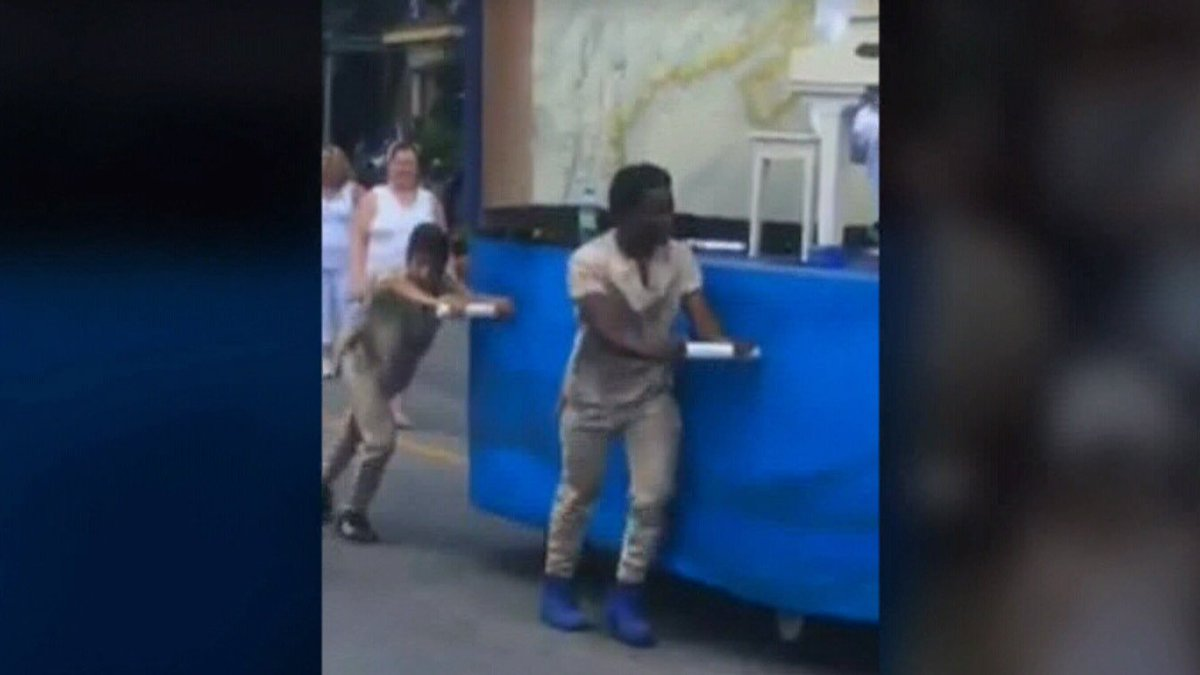 Black teens pushing float weren't meant to resemble slaves, parade organizers say