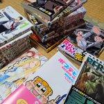 今日買ったマンガは、ベルセルク、ポプテピピック、げんしけん(新装版)、背すじをピン!と、月刊少女野崎くん、を買った(°▽