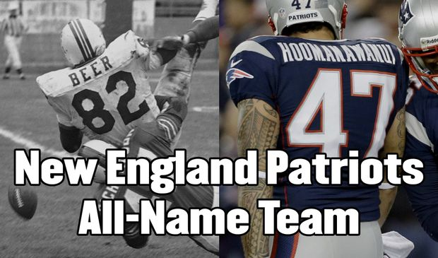 The New England Patriots all-name team: From Dick Shiner to Earthwind Moreland