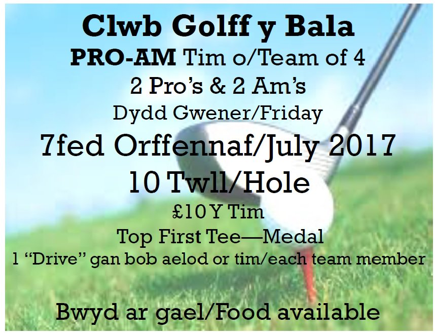 test Twitter Media - Wythnos prysur #Bala #golff 30/06 - #10HoleFridayNight⛳️ 01/07 - #CaptainsDay⛳️ 07/07 - #ProAm⛳️ 09/07 - #StrawberryTea🍓☕️ https://t.co/iJAws8Rd46