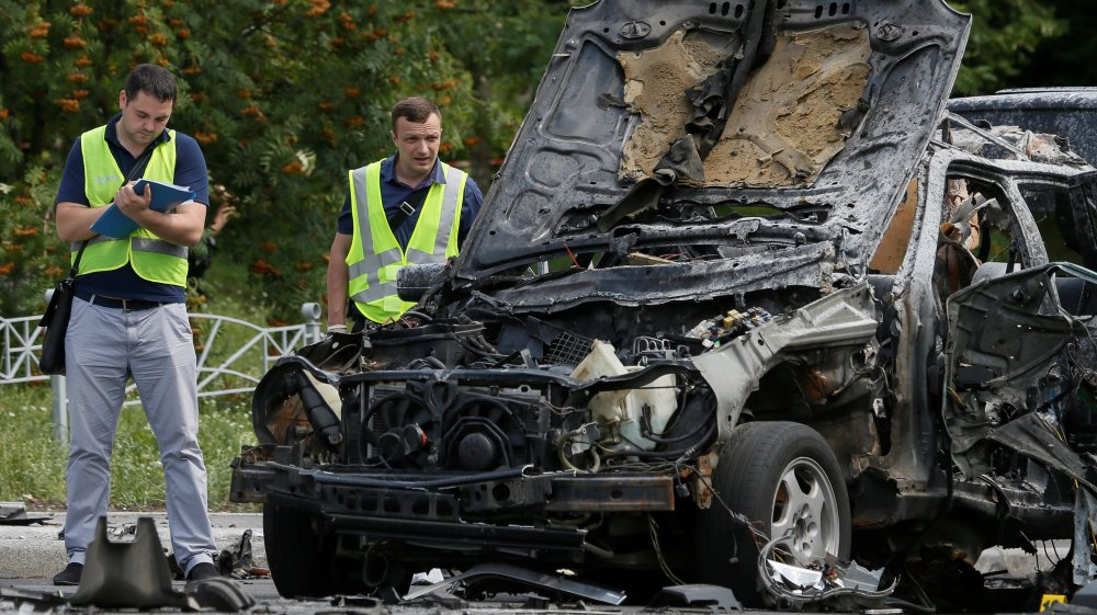 Kiev car explosion kills Ukraine's senior military spy