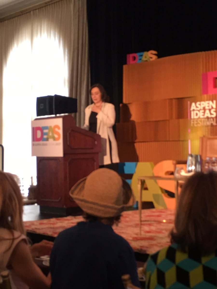 test Twitter Media - Incredible talk by the amazing Sherry Turkle on dangers of efficiency and frictionless at #aspenideas #resist https://t.co/9QbYO9Q3HM