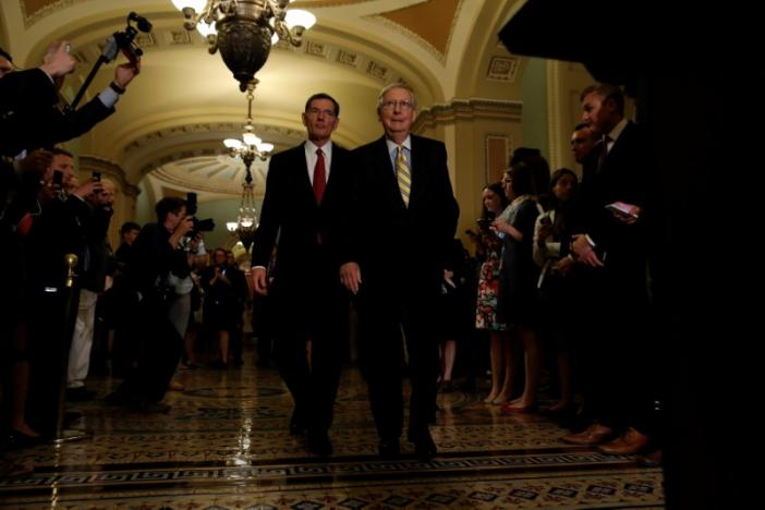 Facing a revolt on healthcare bill, Senate Republicans delay the vote. More here: