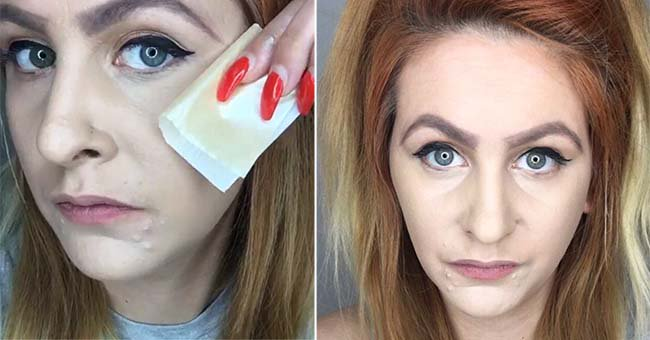 There's a new way to apply your makeup using JUST paper, no product needed...