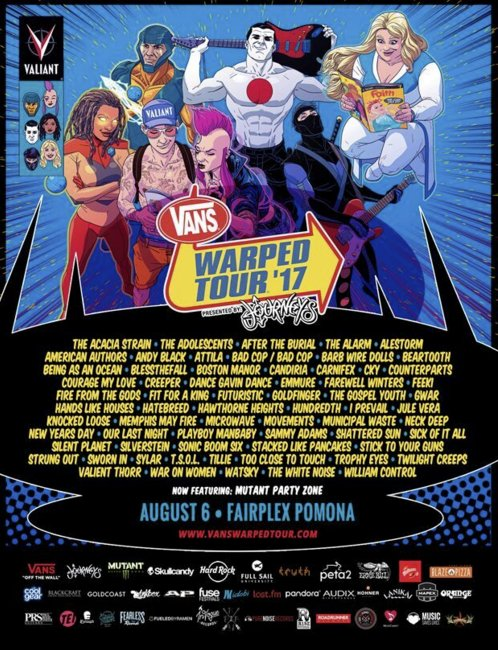 Win a pair of tickets to Vans Warped Tour 2017!