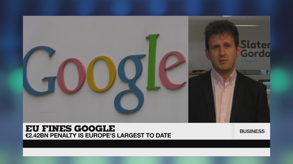 BUSINESS DAILY - EU fines Google €2.4bn over shopping service