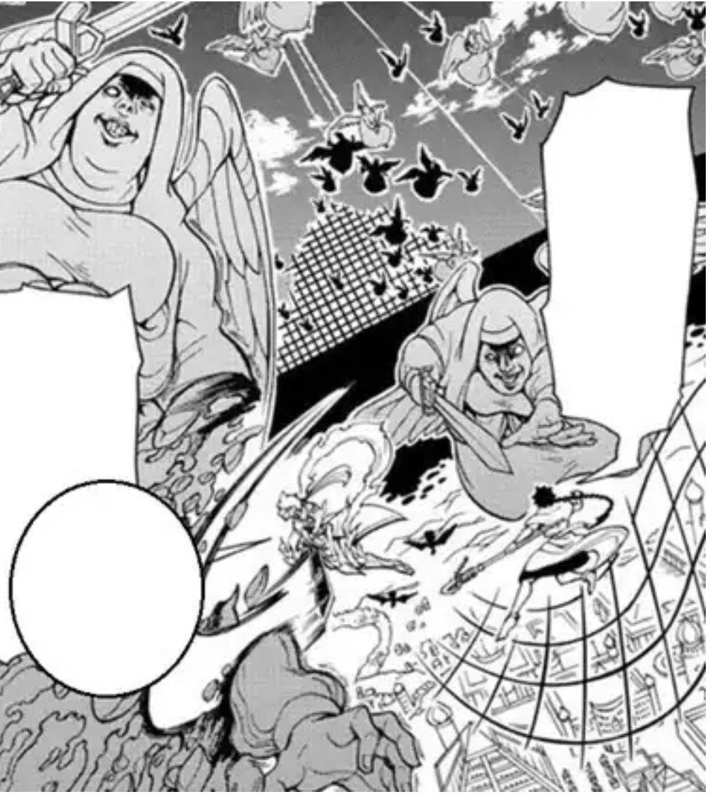 天使達の数は倒してもどんどん湧いてくる中、アラジンは発生元を大峡谷だと見つける💡そんな中シャルルカン率いるエリオハプト軍