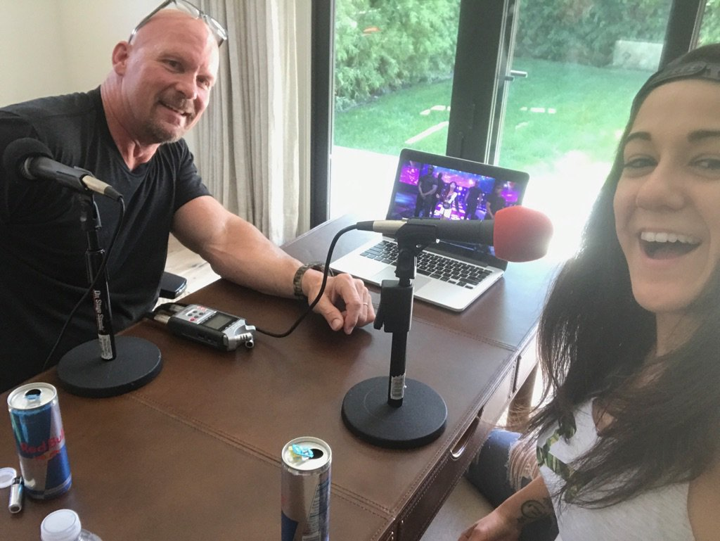 Part one of my conversation w @itsBayleyWWE is up now. @PodcastOne and iTunes.  Oh Hell Yeah! https://t.co/mWuqnulPoU
