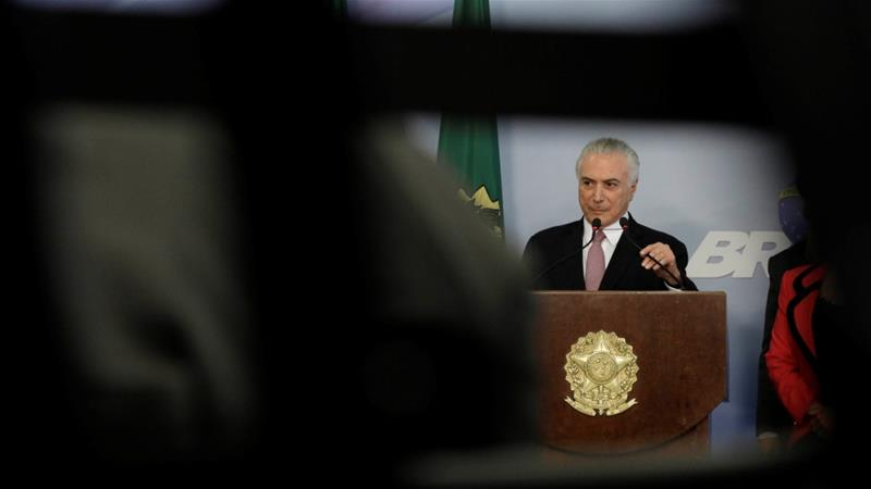 "Brazil's president dismisses corruption allegations against him as a ""soap opera plot"""