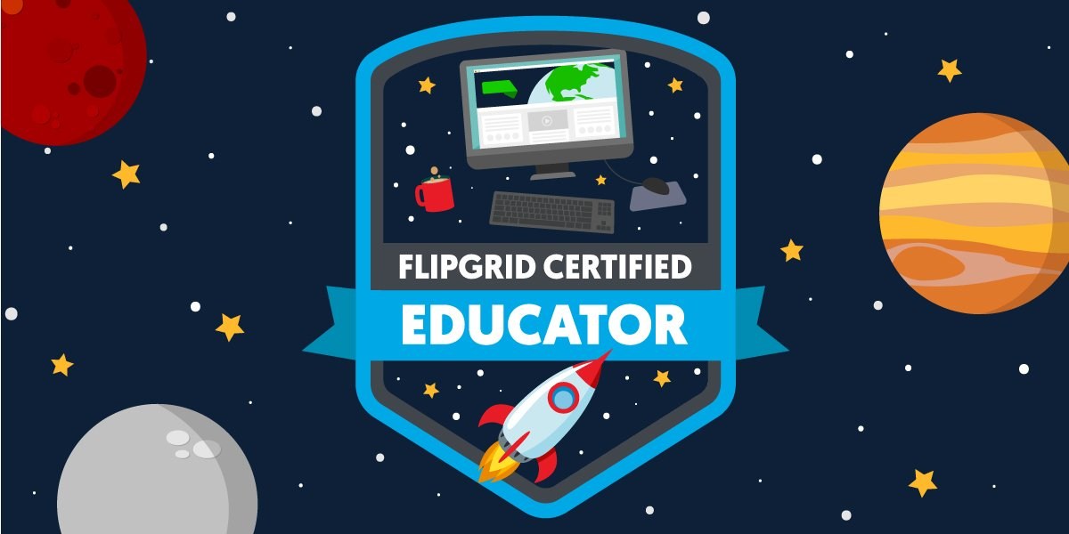 It's official! I'm a @Flipgrid Certified Educator, committed to amplifying student voice! #FlipgridFever https://t.co/lMBoWqSExj