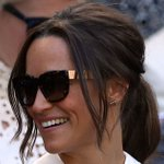 Newlywed Pippa Middleton shows off honeymoon glow at Wimbledon in racy see-through dress as temperatures rocket