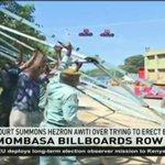 Mombasa Court summons Hezron Awiti over trying to erect billboards