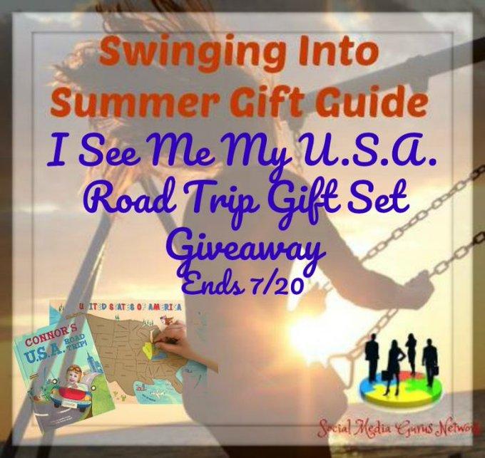 I See Me My U.S.A. Road Trip Gift Set Giveaway Ends 7/20 @ISeeMe_Books @SMGurusNetwork