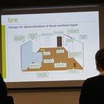Dr Stephen Garvin presents illustration of a #flood resilient repair  #BRUFMAconf @BRE_Group @StephenGarvin70